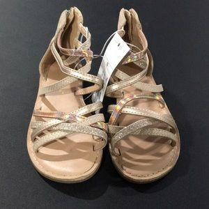 Toddler girls gold gladiator sandal size 10